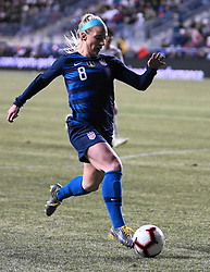 February 28, 2019 - Chester, United States - Julie Ertz of The United States.during the She Believes Cup football match between The United States and Japan at Talen Energy Stadium on February 27, 2019 in Chester, Pennsylvania, United States. (Credit Image: © Action Foto Sport/NurPhoto via ZUMA Press)