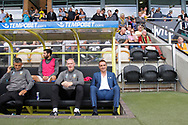 Sheffield Wednesday dugout with Sheffield Wednesday manager Carlos Carvalhal during the EFL Sky Bet Championship match between Burton Albion and Sheffield Wednesday at the Pirelli Stadium, Burton upon Trent, England on 26 August 2017. Photo by Richard Holmes.