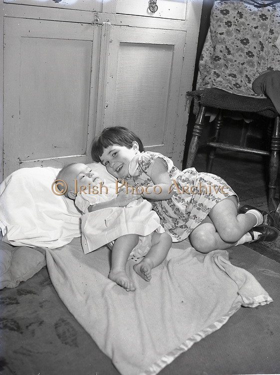 Catholic Protection Rescue Society, Fr Barrett,<br /> Baby at home of Mrs, O'Brian 14 Gulleston Cottages 21-9-1956 4 year old girl and baby