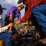 The Holmgren family tends to fields and equipment on their ranch that borders Piedras Negras, Mexico. The family has seen an increase in drug and migrant smuggling through their ranch near Eagle Pass, Texas. Please contact Todd Bigelow directly with your licensing requests.