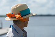 Sarasota. Florida USA. Straw Hat, worn by Boat Staff/NTO. 2017 FISA World Rowing Championships, Nathan Benderson Park<br /> <br /> Friday  22.09.17   <br /> <br /> [Mandatory Credit. Peter SPURRIER/Intersport Images].<br /> <br /> <br /> Leica Camera AG -  LEICA M (Typ 262)  lens  not selected mm. 100 ISO 1/1500/sec. f 4.8