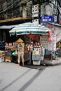 Small food stall on Ngoc Ha street, Hanoi, Vietnam, Southeast Asia