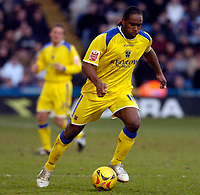 Photo: Alan Crowhurst.<br />Crystal Palace v Cardiff City. Coca Cola Championship. 04/02/2006. <br />Cameron Jerome attacks for Cardiff.