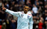 Photo: Alan Crowhurst.<br />England U21 v Italy U21. International Friendly. 24/03/2007. England's Wayne Routledge scores 2-1.