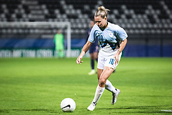 Dominika Conc of Slovenia during football match between Slovenia and France in 2nd round of Women's world cup 2023 Qualifying round on 21 of September, 2021 in Mestni stadion Fazanerija, Murska Sobota, Slovenia. Photo by Blaž Weindorfer / Sportida