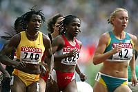 Friidrett, 23. august 2003, VM Paris,( World Championschip in Athletics),  Letitia Vriesde (1021), og Tina Paulino