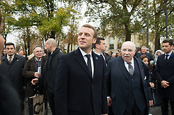 French President Emmanuel Macron in Paris on November 11, 2017 during the Armistice Day commemorations marking the end of WWI. Photo by<br /> ELIOT BLONDET/ABACAPRESS.COM