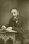 'Michael Edward Hicks Beach (1837-1916) pictured c1890, created 1lst Earl St Aldwyn in 1915, British Conservative politician who served as Chacellor of the Exchequer 1885-1886 and 1895-1902.'
