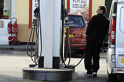 © Licensed to London News Pictures. 30/01/2013. The Office of Fair Trading has found no evidence of artificially high fuel prices, saying tax hikes and oil prices are to blame for the rising cost of petrol and diesel, not a lack of competition. The AA said the report is a whitewash. Petrol Pumps in Kent today. Photo credit : Grant Falvey/LNP