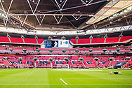 Before Kick off during the The FA Cup 3rd round match between Tottenham Hotspur and AFC Wimbledon at Wembley Stadium, London, England on 7 January 2018. Photo by Robin Pope.