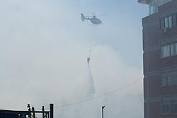June 19, 2017 - Rome, RM, Italy - A big fire in the southwestern area of Rome burst around 12:15, burning down part of the Valle dei Casali area. (Credit Image: © Matteo Nardone/Pacific Press via ZUMA Wire)