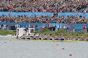 Eton Dorney, Windsor, Great Britain,..2012 London Olympic Regatta, Dorney Lake. Eton Rowing Centre, Berkshire[ Rowing]...Description;  Men's Eights Final...GBR.M8+ Alex PARTRIDGE (b) , James FOAD (2) , Tom RANSLEY (3) , Richard EGINGTON (4) , Mohamed SBIHI (5) , Greg SEARLE (6) , Matt LANGRIDGE (7) , Constantine LOULOUDIS (s) , Phelan HILL (c).USA.M8+ David BANKS (b) , Grant JAMES (2) , Ross JAMES (3) , William MILLER (4) , Giuseppe LANZONE (5) , Stephen KASPRZYK (6) , Jacob CORNELIUS (7) , Brett NEWLIN (s) , Zachary VLAHOS (c).NED.M8+. Sjoerd HAMBURGER (b) , Diederik SIMON (2) , Rogier BLINK (3) , Matthijs VELLENGA (4) , Roel BRAAS (5) , Jozef KLAASSEN (6) , Olivier SIEGELAAR (7) , Mitchel STEENMAN (s) , Peter WIERSUM (c)Dorney Lake. ..12:35:23  Wednesday  01/08/2012..[Mandatory Credit: Peter Spurrier/Intersport Images].