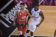 Lee Moore, Federico Mussini<br /> Germani Leonessa Basket Brescia - Grissin Bon Reggio Emilia<br /> LegaBasket Serie A 2017/2018<br /> Brescia, 05/11/2017<br /> Foto A.Scaroni / Ciamillo-Castoria