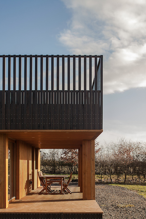 award winning house in countryside oxfordshire by ITP studios ecospcae studios wood black open plan
