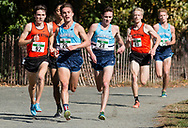 New York, New York  - Runners from Columbia and Princeton compete in the Ivy League Heptagonal men<br /> s cross country championship meet at Van Cortlandt Park in the Bronx on Oct. 26, 2017.