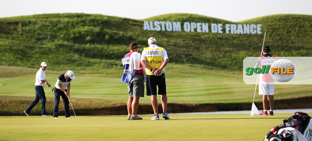 Matt Ford (ENG) putts for a round of 72 during Round One of the 2015 Alstom Open de France, played at Le Golf National, Saint-Quentin-En-Yvelines, Paris, France. /03/07/2015/. Picture: Golffile | David Lloyd<br /> <br /> All photos usage must carry mandatory copyright credit (© Golffile | David Lloyd)