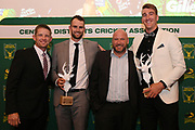 Tom Bruce and Blair Tickner are named Stags T20 players of the year, Central Districts Cricket Awards Dinner, The Old Church, Napier, Friday, March 22, 2019. Copyright photo: Kerry Marshall / www.photosport.nz