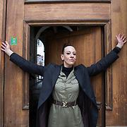 Piccolo Teatro Grassi, Milano, Italia, 9 Aprile 2021. Elena Pilan, attrice CETEC Dentro/Fuori San Vittore.