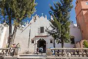 Pilgrims enter the Casa de Ejercicios at the Sanctuary of Atotonilco an important Catholic shrine in Atotonilco, Mexico.