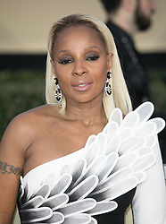 January 21, 2018 - Los Angeles, California, U.S - Mary J. Blige on the red carpet of the 24th Annual Screen Actors Guild Awards held at the Shrine Auditorium. (Credit Image: © Prensa Internacional via ZUMA Wire)
