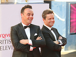 © Licensed to London News Pictures. 18/05/2014, UK. Anthony McPartlin; Declan Donnelly, Arqiva British Academy Television Awards - BAFTA, Theatre Royal Drury Lane, London UK, 18 May 2014. Photo credit : Richard Goldschmidt/Piqtured/LNP