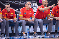 Spain's Sergio Scariolo during friendly match for the preparation for Eurobasket 2017 between Spain and Venezuela at Madrid Arena in Madrid, Spain August 15, 2017. (ALTERPHOTOS/Borja B.Hojas)