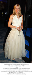 Interior designer LINDA BARKER at a reception in London on 16th March 2004.<br /> PSK 4
