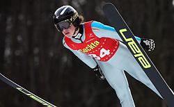 Luka Leban of NSK Trzic  - Trifix  at Slovenian National Championship in Ski Jumping on February 12, 2008 in Kranj, Slovenia . (Photo by Vid Ponikvar / Sportal Images).