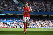 Héctor Bellerín of Arsenal looking on. Barclays Premier League match, Chelsea v Arsenal at Stamford Bridge in London on Saturday 19th September 2015.<br /> pic by John Patrick Fletcher, Andrew Orchard sports photography.