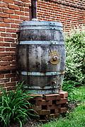 Rain barrel.
