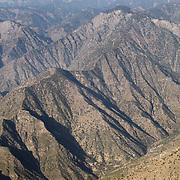 Aerial image of Hindu Kush mountains, Kunar Provence, Afghanistan.