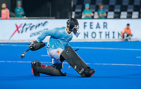 BHUBANESWAR, INDIA - keeper Harry Gibson (Eng) .England v Australia (1-8) for the bronze medal during the Odisha World Cup Hockey for men  in the Kalinga Stadion.   COPYRIGHT KOEN SUYK