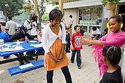 Muna Ali, at center, a Somali student living in Scarboro, Ontario, Canada attends a party at a housing project in East Scarboro, near her house.