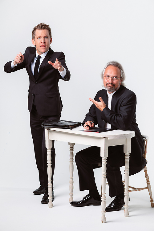 Carlos Kalmar and Scott Showalter of the Oregon Symphony, October 2018. Photo by Jason Quigley