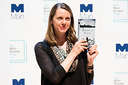 © Licensed to London News Pictures. 16/10/2017. London, UK.  US author EMILY FRIDLUND with her bookHistory of Wolves attends the Man Booker prize for fiction shortlisted event at the Royal festival Hall. The winning author will receive £50,000 prize money.Photo credit: Ray Tang/LNP