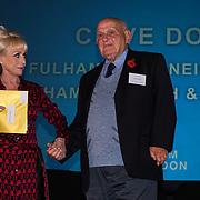 London, UK. 31th October, 2016. Dame Barbara Windsor presents the Long Service awards to Clive Domm at Team London Awards at City Hall, London,UK. Photo by See Li