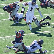 Orange County, California, USA: Fullerton College running back Phillip Butler (6) carries the ball upfield. (Eric Cech/Sports Shooter Academy)