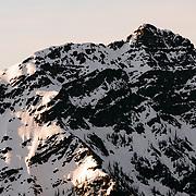 Spring sunrise landscape in the mountains of Glacier National Park, Montana.