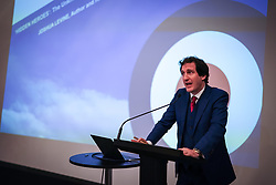 Joshua Levine, author and historian who was official historian for the film Dunkirk, speaking at Hidden Heroes, an event celebrating the part played by Jewish volunteers in the Royal Air Force during World War Two, at the RAF Museum in London. The event is part of celebrations to mark the centenary of the RAF. Photo date: Thursday, November 15, 2018. Photo credit should read: Richard Gray/EMPICS