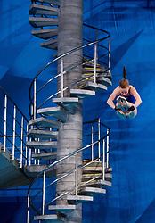August 6, 2018 - Edinburgh, UNITED KINGDOM - ELLEN EK of Sweden competes in the final of the team event 3m/10m diving during the European Championships in Edinburgh. (Credit Image: © Jon Olav Nesvold/Bildbyran via ZUMA Press)