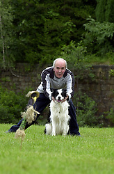 Eddie Sanders with his dog Inka practacing one of the most difficult events where Eddie has to send Inka away from him to a pre determined point. <br /><br />18 June 2004<br /><br />Copyright Paul David Drabble<br /><br />[#Beginning of Shooting Data Section]<br />Nikon D1 <br /><br />Focal Length: 170mm<br /><br />Optimize Image: <br /><br />Color Mode: <br /><br />Noise Reduction: <br /><br />2004/06/18 09:21:54.5<br /><br />Exposure Mode: Manual<br /><br />White Balance: Auto<br /><br />Tone Comp: Normal<br /><br />JPEG (8-bit) Fine<br /><br />Metering Mode: Center-Weighted<br /><br />AF Mode: AF-S<br /><br />Hue Adjustment: <br /><br />Image Size:  2000 x 1312<br /><br />1/200 sec - F/8<br /><br />Flash Sync Mode: Not Attached<br /><br />Saturation: <br /><br />Color<br /><br />Exposure Comp.: 0 EV<br /><br />Sharpening: Normal<br /><br />Lens: 80-200mm F/2.8<br /><br />Sensitivity: ISO 200<br /><br />Image Comment: <br /><br />[#End of Shooting Data Section]