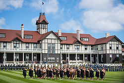 Maori warriors at an official welcome ceremony at Government House in Wellington, on the first day of the royal couple's tour of New Zealand.