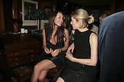 Tamara Mellon and Sydney Finch,  Charles Finch and Chanel 7th Anniversary Pre-Bafta party to celebratew A Great Year of Film and Fashiont at Annabel's. Berkeley Sq. London W1. 10 February 2007. -DO NOT ARCHIVE-© Copyright Photograph by Dafydd Jones. 248 Clapham Rd. London SW9 0PZ. Tel 0207 820 0771. www.dafjones.com.