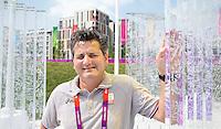 LONDEN - Vrijdag was in het Olympisch dorp een persmoment waar Teun de Nooijer , Bully Bakker en bondscoach Paul van Ass (foto)  de pers te woord stonden met oog op de Olympische finale van zaterdag tegen Duitsland. ANP KOEN SUYK