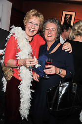 Left to right, CHRISTINE HAMILTON and her sister in law LADY HOLMAN at a party to relaunch PR First London, held at the 606 Club, Lots Road, London SW10 on 16th January 2013.