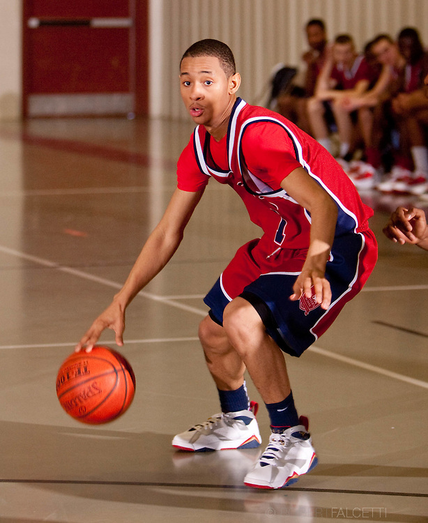 The Master's School, West Simsbury, CT. 2010-2011. Boys Varsity basketball.  (Photo by Robert Falcetti). .