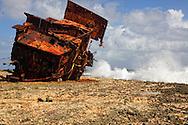 Ship wreck in Gibara, Holguin, Cuba.