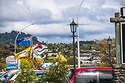 Trying to capitalize on the fame of Lake Taupo, this local motel puts on the big fish.