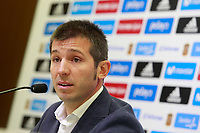 The coach of the national sub21 soccer team of Spain, Albert Celades, presents the list of players for international match against Iceland and Slovakia. November 3,2017.(ALTERPHOTOS/Acero)