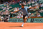 Paris, France. June 1st 2009. .Roland Garros - Tennis French Open. .Swiss player Roger Federer against Tommy Haas